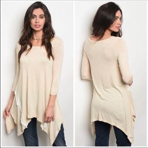 Cream Tunic with Lace Detail
